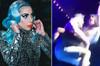 Lady Gaga, hayranıyla birlikte sahneden düştü!