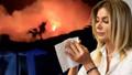 Yangın kaldığı otelin yanına kadar geldi! Songül Karlı korku dolu anları sesi titreyerek anlattı