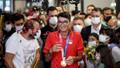 Olimpiyat şampiyonu Mete Gazoz, Türkiye'ye döndü