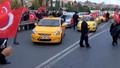 Eylemdeki taksiciler Habertürk muhabirine saldırdı