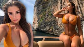 Demi Rose'nin tekne pozu sosyal medyayı salladı!
