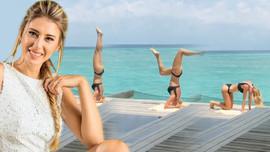 Yoga yaptığı bikinili videosuyla nefes kesti!