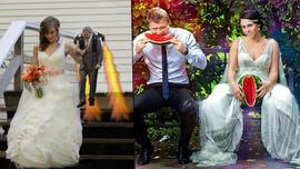 Bu düğün fotoğrafları gözlerinizi kanatacak!