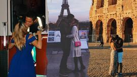 Gittiği her ülkede başkasıyla öpüşüyor!