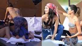 Kendall Jenner ve Bella Hadid plaja indi!