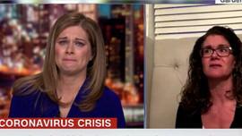 Koronavirüs röportajı sunucuyu böyle ağlattı