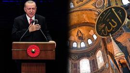 Erdoğan'dan Ayasofya şarkısı paylaşımı!