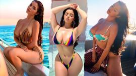 Ünlü model cesur bikinisiyle yürek hoplattı!