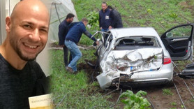 Ünlü yazar trafik kazası geçirdi!