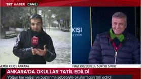 Canlı yayında TRT muhabirini kar topuna tuttular!