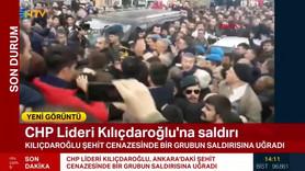 Kemal Kılıçdaroğlu'na şehit cenazesinde saldırı