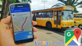 Google Haritalar'a toplu taşıma güncellemesi