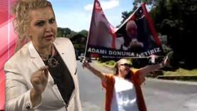 Seyhan Soylu'dan Gülen'in evinin önünde eylem!