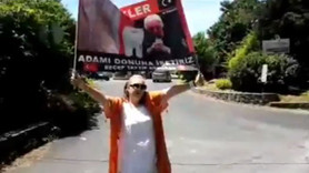 Seyhan Soylu'dan Gülen'in evinin önünde eylem