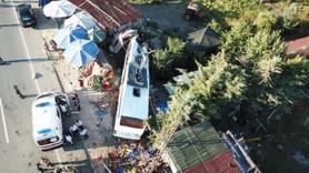 Havaist otobüsü kaza yaptı! Ölü ve yaralılar var!