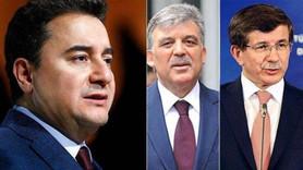 AKP'den Gül, Davutoğlu ve Babacan kararı!