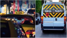 Taksi, minibüs ve okul servis ücretlerine zam!