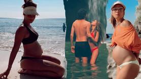 6 aylık hamile Müge Boz'dan bikinili poz