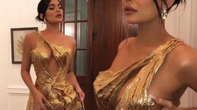 Kylie Jenner kıyafetiyle düğünün önüne geçti