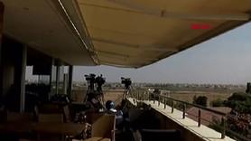 Gazetecilerin bulunduğu binaya ateş açıldı