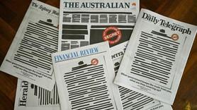 Avustralya'da bütün gazeteler böyle basıldı!