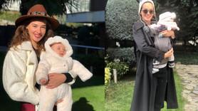 Taze anne Seda Bakan kızı Leyla'yı paylaştı