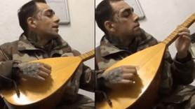 Askerde türkü söylediği görüntüleri çıktı