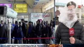 TRT muhabirine canlı yayında büyük şok!