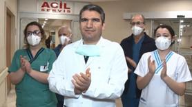 Vatandaşların alkış desteğine sağlıkçılardan yanıt