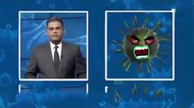 Iraklı spiker koronavirüsle röportaj yaptı
