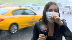 CNN Türk muhabirinin canlı yayındaki zor anları!
