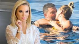 Ünlü sunucu sevgilisiyle denizde aşka geldi