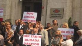 ''RADYOEVİMİZİ VERMEYECEGİZ!'' TRT ÇALIŞANLARINDAN BM'YE PROTESTO! (MEDYARADAR/ÖZEL)
