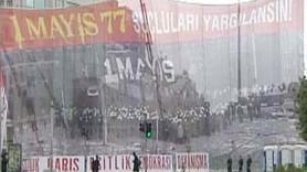 1 MAYIS KUTLANIYOR! TAKSİM'DE DEV PANKART!