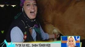 SABA TÜMER'İN KAHKAHASI İNEĞİ KIZDIRDI!