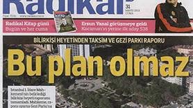 İŞTE GEZİ PARKI'NA VERİLEN RAPOR! BÖYLE PLAN OLMAZ!