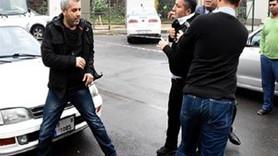 Haber yapmak isteyen gazeteciye saldırdılar!