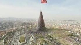 YSK'dan AKP'nin bayraklı reklamına yasak