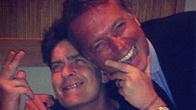 Cem Uzan'ın keyfi yerinde! Charlie Sheen ile fotoğraf paylaştı!