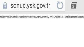 YSK 'Sonuç paylaşım sistemi'ni kapattı