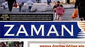 Zaman gazetesi baskını manşetten duyurdu: 3 adet gazete için...