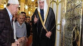 Cumhurbaşkanı Medine'de takkeyle görüntülendi