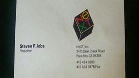 Steve Jobs'un kartvizitleri açık artırmada