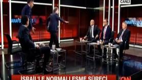 CNN Türk canlı yayınında büyük kavga! Vekiller kapıştı, cam masa parçalandı!