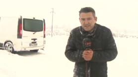 CNN TÜRK ekibi yolda mahsur kaldı