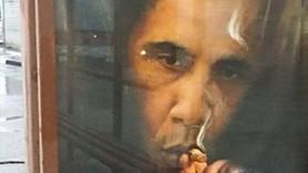 """Moskova'da şaşırtan afiş: """"Sigara Obama'dan daha fazla insan öldürür"""""""