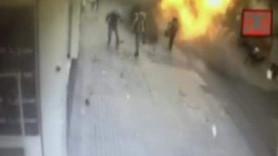 Taksim'deki canlı bomba saldırısı güvenlik kamerasında