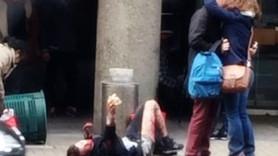 Brüksel'deki patlamaya damga vuran fotoğraf! Yardım etmek yerine öpüştüler!