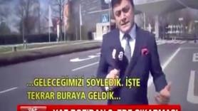 A Haber muhabiri Mevlüt Yüksel güreşe doymuyor: Yine ZDF kanalı önünde