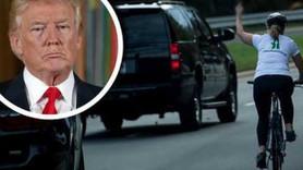 Trump'a 'orta parmak' gösteren kadının başına ne geldi?